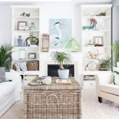 Inspiring Living Room Ideas With Beachy And Coastal Style37