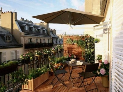 Inspiring Wooden Floor Design Ideas On Balcony For Your Apartment 01
