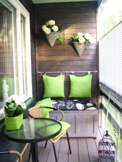 Inspiring Wooden Floor Design Ideas On Balcony For Your Apartment 02
