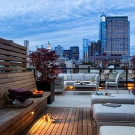 Inspiring Wooden Floor Design Ideas On Balcony For Your Apartment 29