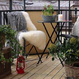 Inspiring Wooden Floor Design Ideas On Balcony For Your Apartment 31