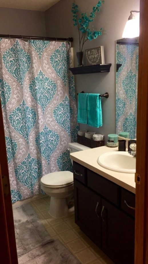 Cute Small Bathroom Decor Ideas On A Budget To Try37