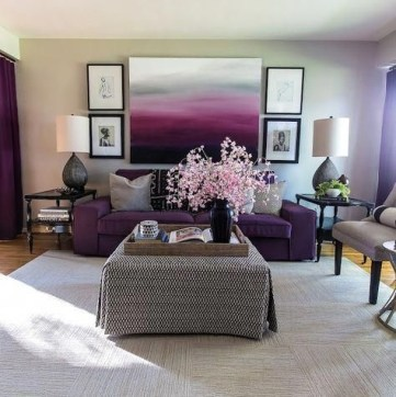 Modern Living Room Ideas With Purple Color Schemes01