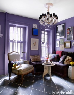 Modern Living Room Ideas With Purple Color Schemes02