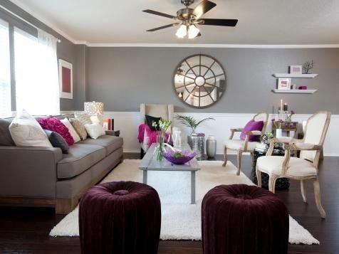 Modern Living Room Ideas With Purple Color Schemes03