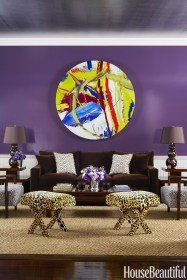 Modern Living Room Ideas With Purple Color Schemes14