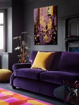 Modern Living Room Ideas With Purple Color Schemes31