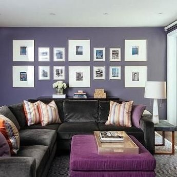Modern Living Room Ideas With Purple Color Schemes32