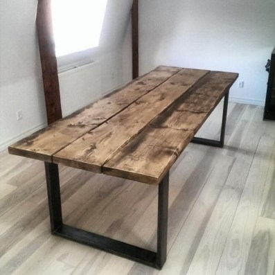 Charming Diy Wooden Dining Table Design Ideas For You08