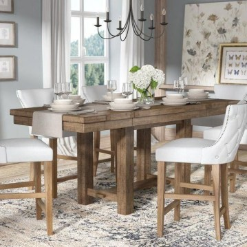 Charming Diy Wooden Dining Table Design Ideas For You17