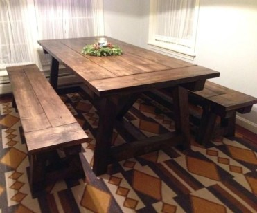 Charming Diy Wooden Dining Table Design Ideas For You29
