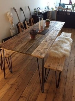 Charming Diy Wooden Dining Table Design Ideas For You31