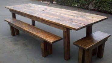 Charming Diy Wooden Dining Table Design Ideas For You33