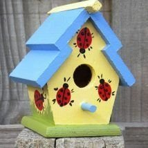 Elegant Bird House Ideas For Your Backyard Space04