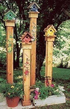Elegant Bird House Ideas For Your Backyard Space13