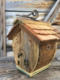 Magnificient Stand Bird House Ideas For Garden34