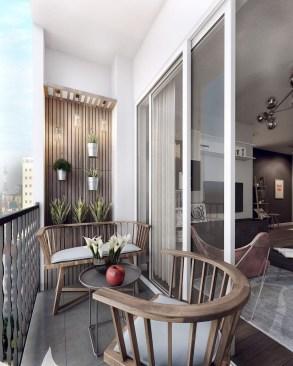 Popular Small Apartment Balcony Decor Ideas For You24