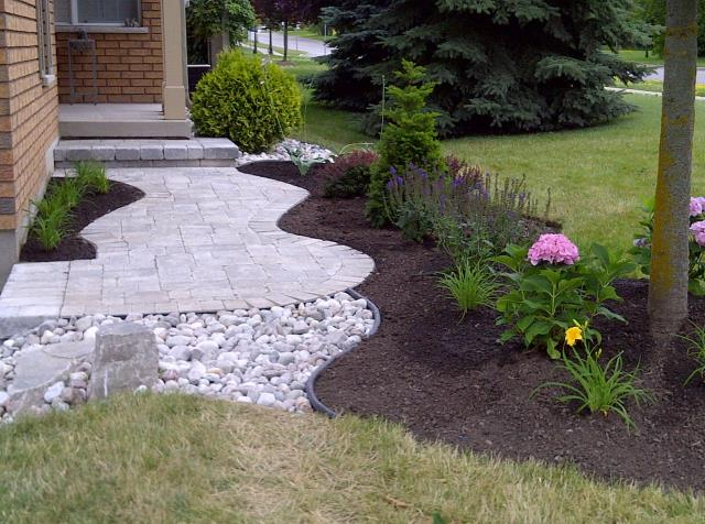 Driveway Landscaping And Front Entry