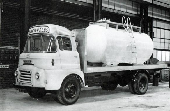Bedford-based beer tanker used by Nimmo's of Castle Eden