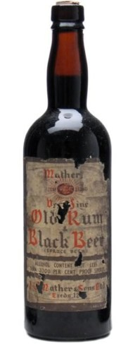 Rum & Black Beer bottle