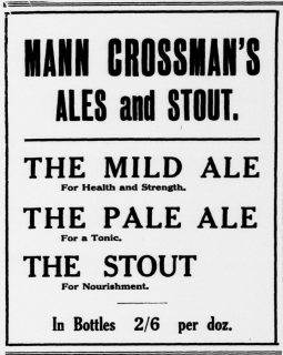 An ad for Mann's mild in the 1920s