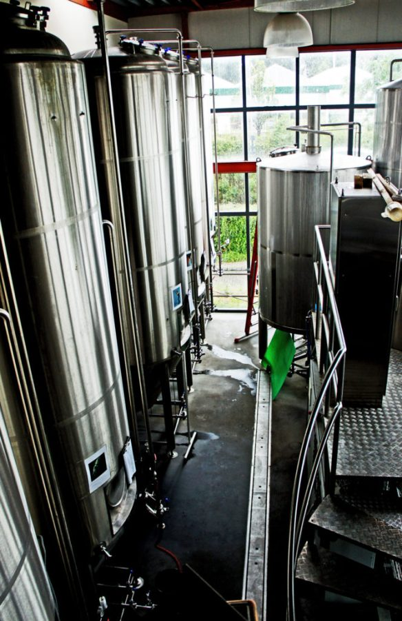 Shiney stainless steel kit at De Molen's new brewery