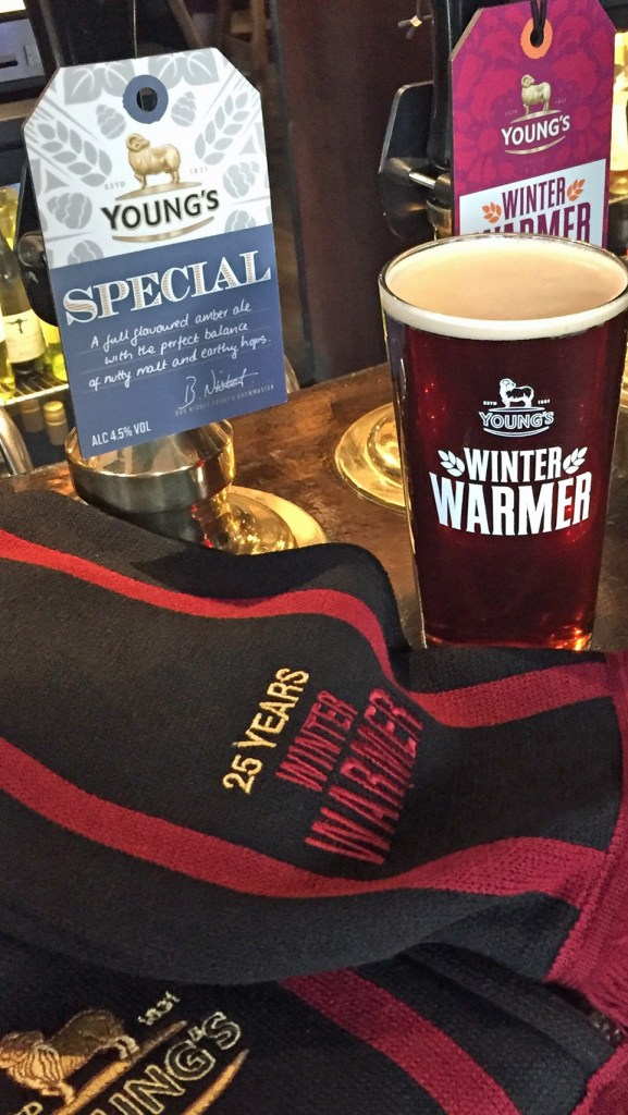 Young's Winter Warmer as sold in the White Cross, Richmond earlyb this am