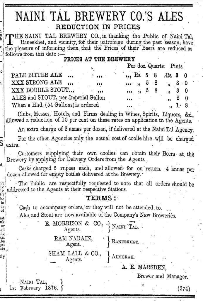 Ad Marsden Naini Tal 1876