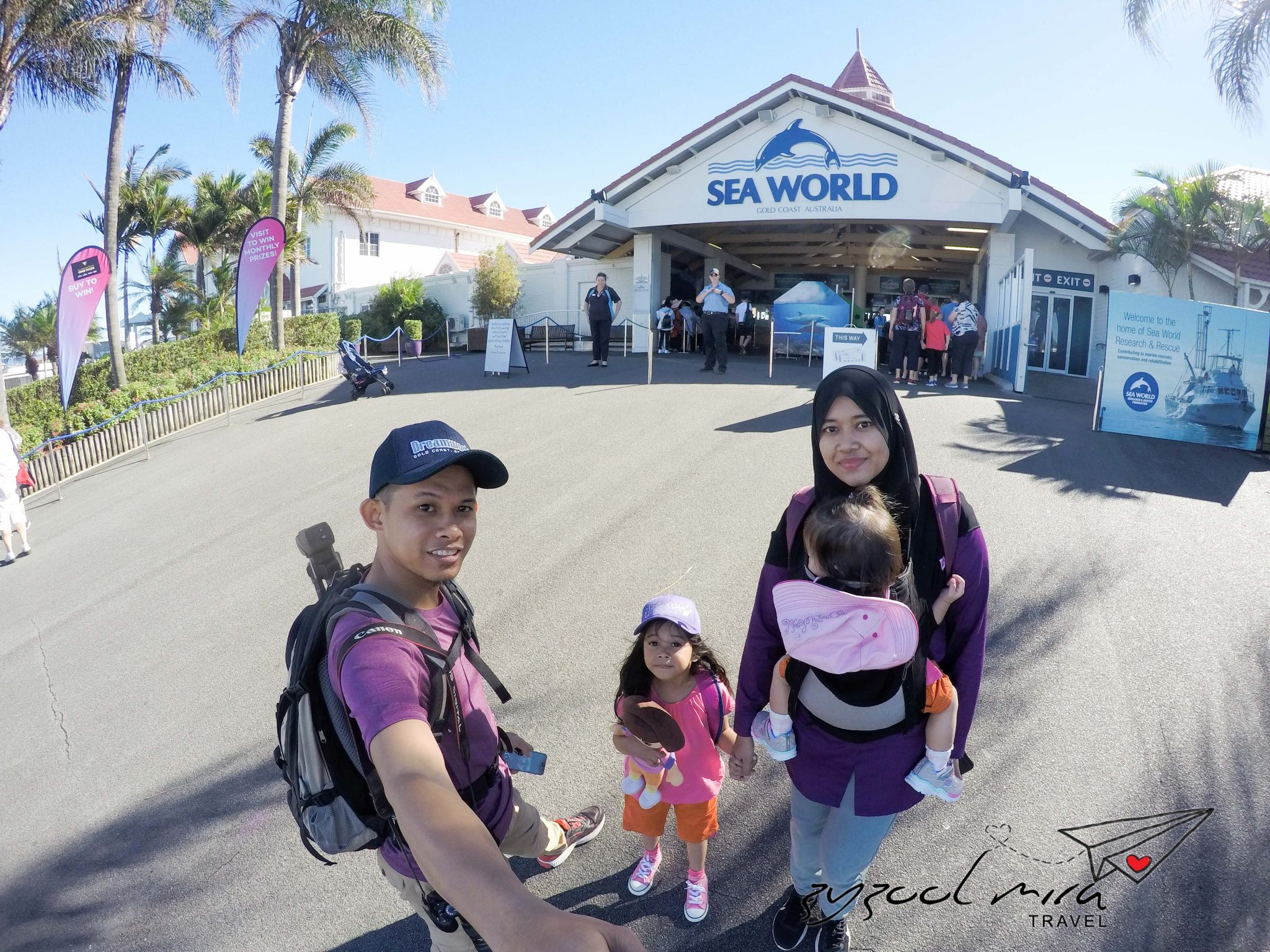 Hari ke-5 seharian di Sea World, Gold Coast Australia