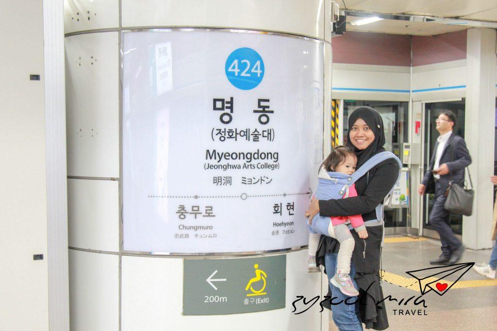 Mira dan Ayra di Myeongdong, Seoul