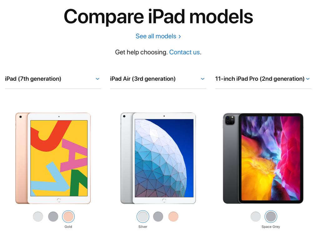 iPad mana jadi pilihan