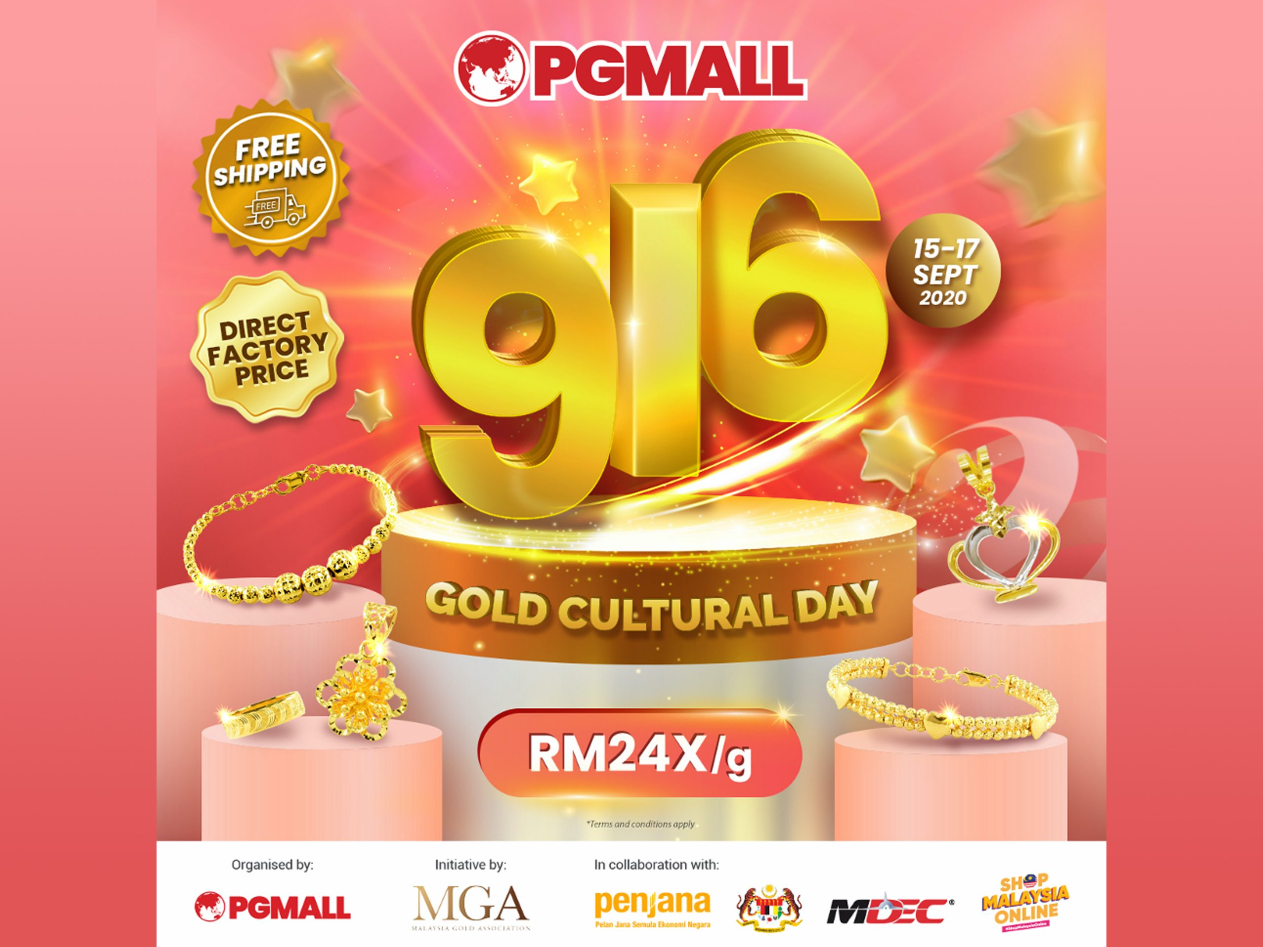 PG Mall 916 Gold Cultural day Banner