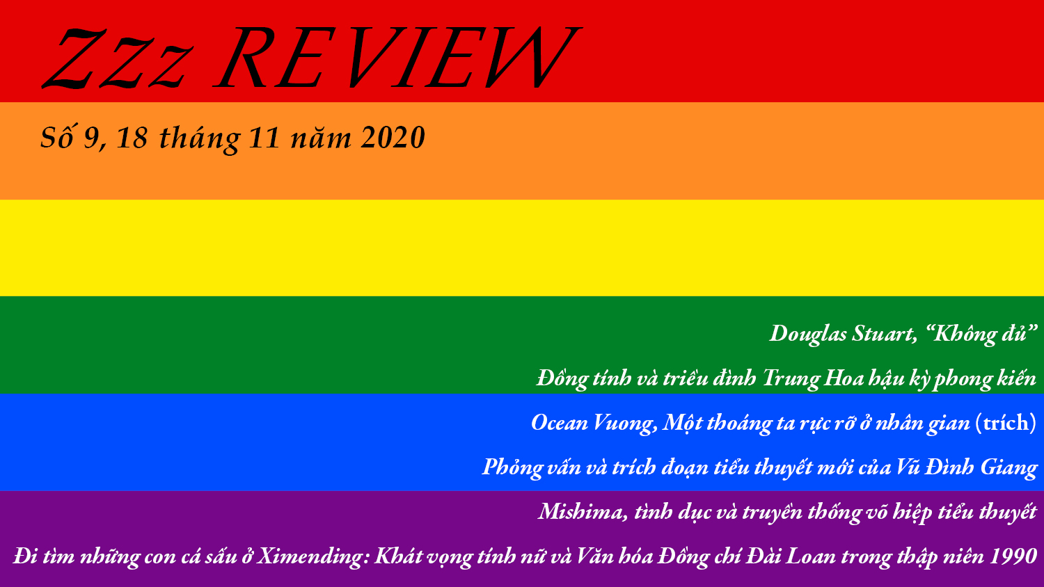Zzz Review số 9: LGBTQ+